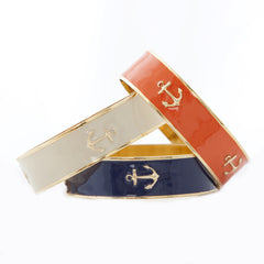 "Bangle Charm Bracelet 3/4 "" -  Anchor"