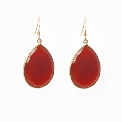 Pasha Teardrop Earrings - Carnelian