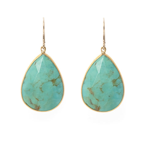 Pasha Teardrop Earrings - Turquoise