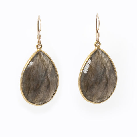 Pasha Teardrop Earrings - Labradorite