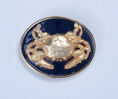 Enamel Crab Buckle - Navy