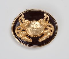 Enamel Crab Buckle - Black