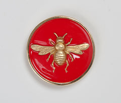 Enamel Bee Buckle - Coral