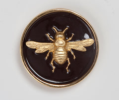 Enamel Bee Buckle - Chocolate