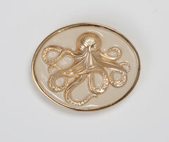 Enamel Octopus Buckle - Cream