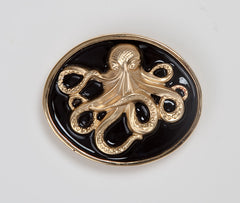 Enamel Octopus Buckle - Black