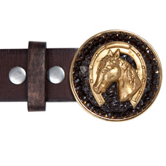 Horse Head Smoky Quartz Buckle