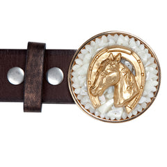 Horse Head Mother of Pearl Buckle