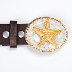 Gold Charm Mother of Pearl Starfish Buckle