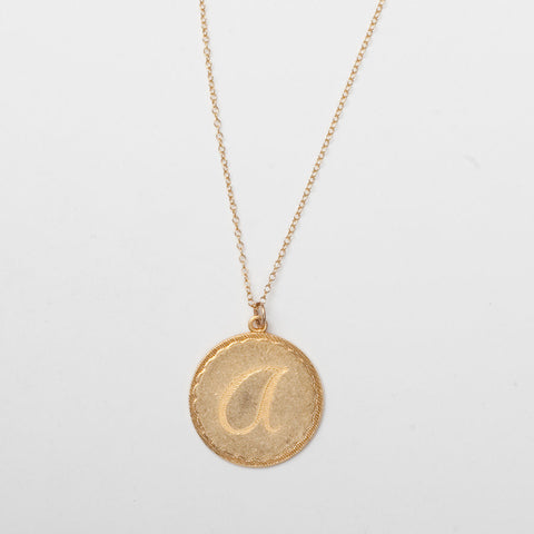 Charm Initial Necklace - Large