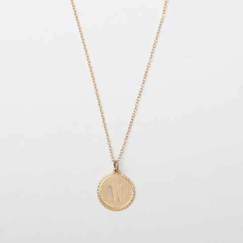 Charm Initial Necklace - Small