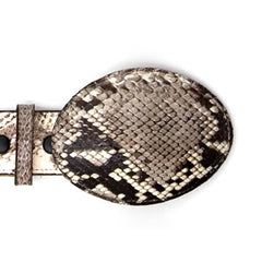 Skin Buckle - Black & White Python
