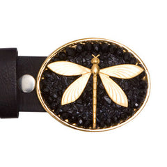 Dragonfly Black Onyx Buckle