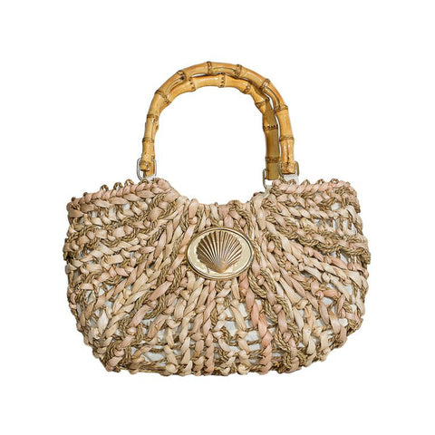 Straw Boat Tote - Small - Scallop