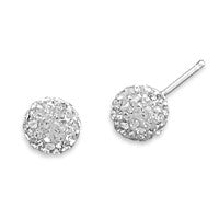 Sparkle Ball Earrings - Clear