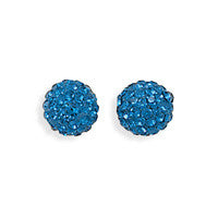 Sparkle Ball Earrings - Blue