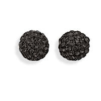 Sparkle Ball Earrings - Black