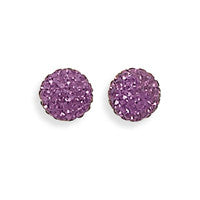 Sparkle Ball Earrings - Plum