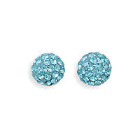 Sparkle Ball Earrings - Turquoise