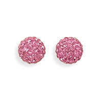Sparkle Ball Earrings - Pink