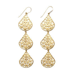 Filigree Triple Dewdrop Earrings