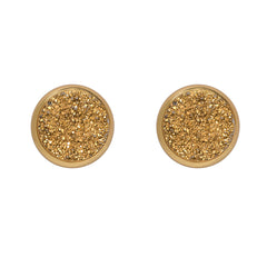 Drusy Stud Earrings - Gold