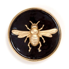 Enamel Bee Buckle - Black