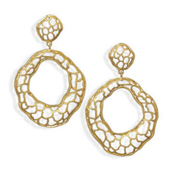Filigree Abstract Circle Earrings