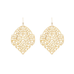 Filigree Large Aspen Leaf Earrings