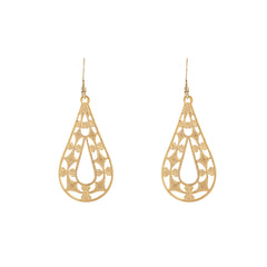 Filigree Open Teardrop Earrings