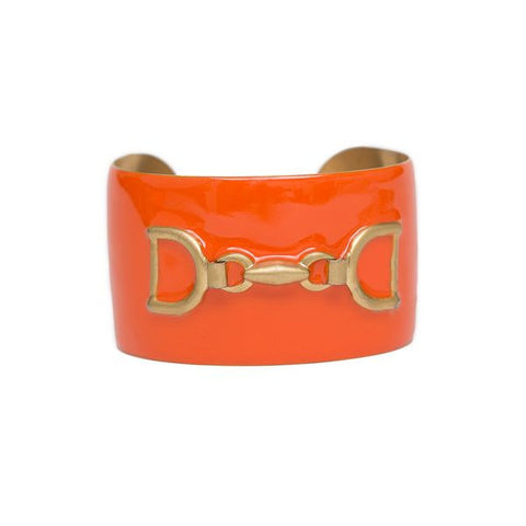 Cuff Bracelet - Orange with Horsebit