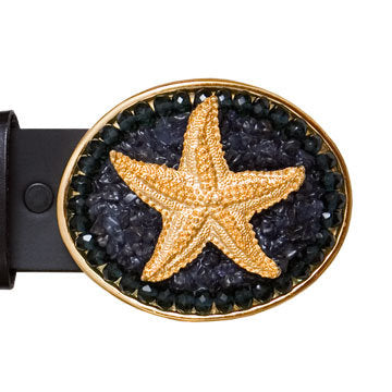 Gold Charm Iolite Starfish Buckle