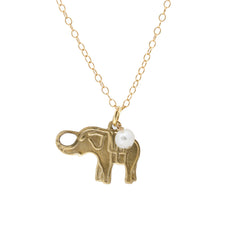 Mini Charm Necklace - Elephant