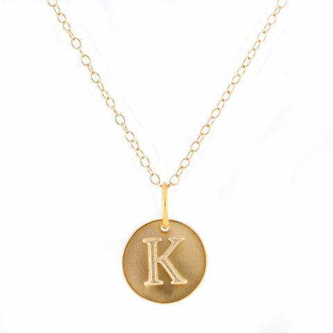 Charm Initial Necklace - Mini