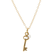 Mini Charm Necklace - Key