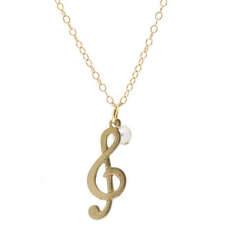 Mini Charm Necklace - Musical Note