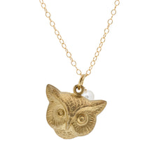 Mini Charm Necklace - owl