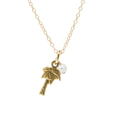 Mini Charm Necklace - Palm Tree