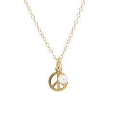 Mini Charm Necklace - Peace Sign