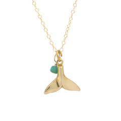 Mini Charm Necklace - Whale Tail