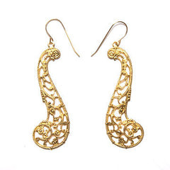 Filigree Musical Scroll Earrings