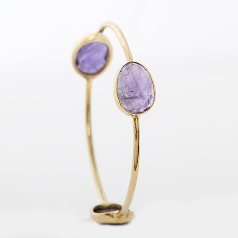 Pasha 3 Stone Bangle - Amethyst
