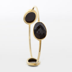 Pasha 3 Stone Bangle - Black Onyx