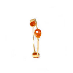 Pasha 3 Stone Bangle - Carnelian