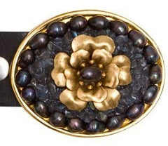 Flower Pearl Iolite Buckle