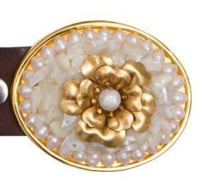 Flower Pearl Mother of Pearl Buckle