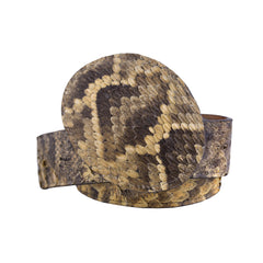 Rattlesnake Buckle & Belt - Natural