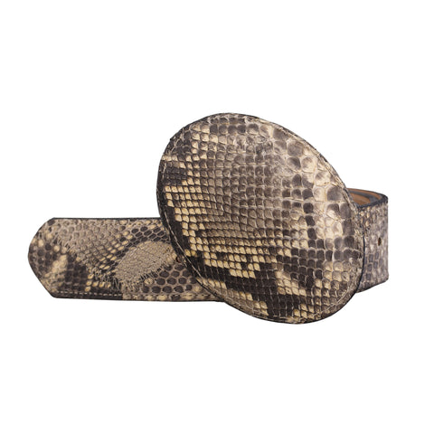 Python Belt and Buckle - Natural