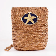 Straw Crossbody Bag - Natural - Starfish