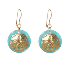 Tortoise Turquoise Dangle Enamel Charm Earrings - Sandollar